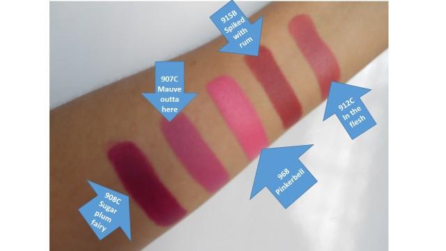 fotos wet n wild lipsticks colores fuertes