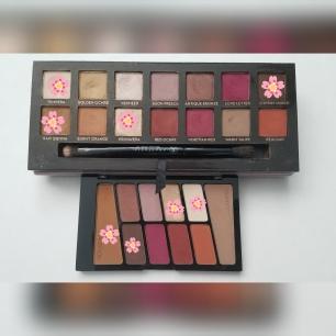 Los colores utilizados en el look de prueba